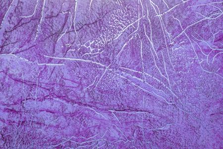 linoleum: linoleum texture background. Linoleum with lilac abstract pattern with golden streaks Stock Photo