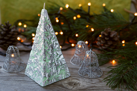 doublet: Decorative Handmade candle in the shape of a pyramid