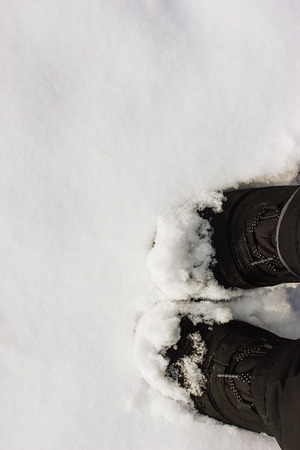 black boots: Black Boots in the snow