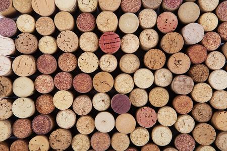 vino: Vino fondo del corcho. Antecedentes de varios corchos de vino usados ??cerca. Foto de archivo