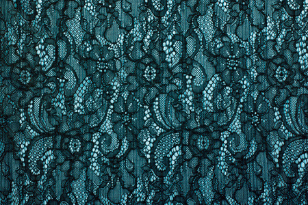 guipure: Black openwork lace background texture. Black guipure. Black fabric with ornament. Background from black lace with pattern with form flower
