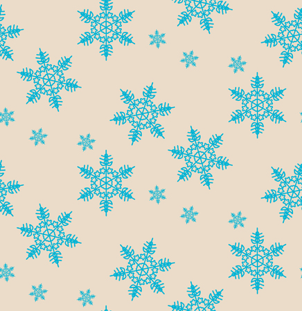 snowflakes seamless pattern for background Illustration