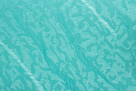 turquoise Fabric blind curtain texture background can use for backdrop or cover