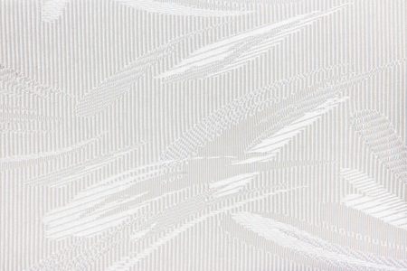jalousie: white Fabric blind curtain texture background can use for backdrop or cover Stock Photo