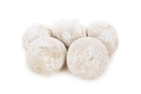 White candy truffles isolated on white background Reklamní fotografie