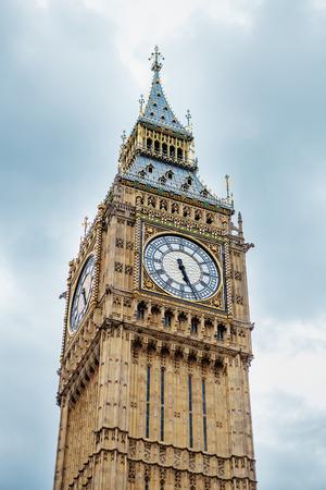 Big Ben, London, UK. A view of the popular London landmark, the clock tower Big Ben