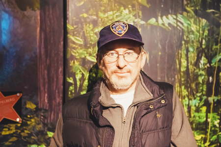London, United Kingdom - August 24, 2017: Steven Spielberg in Madame Tussauds wax museum in London