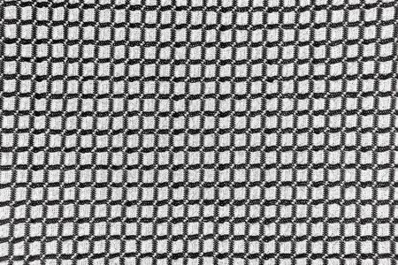 Black and white textured checkered fabric for background