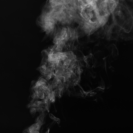 Beautiful White Smoke on black background