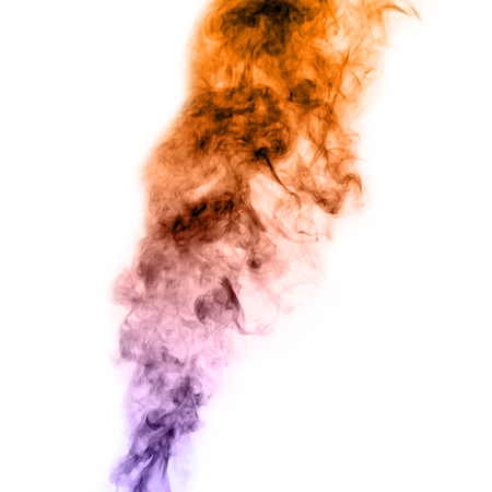 Beautiful colorful Smoke on White background