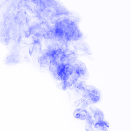 Beautiful Violet Smoke on white background