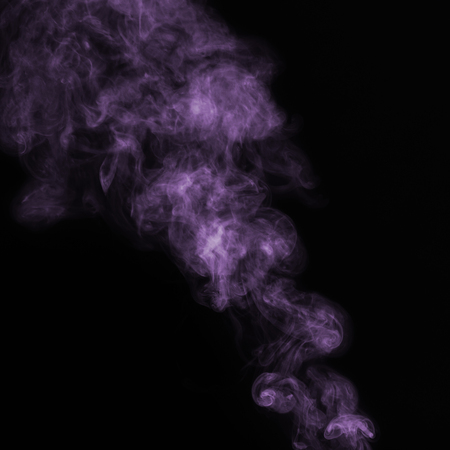 Beautiful Violet Smoke on black background