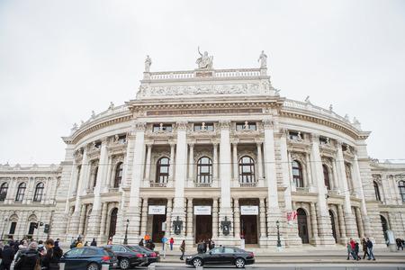 Vienna, Austria - November 24, 2018: The Burgtheater originally known as K.K. Theater an der Burg, then until 1918 as the K.K. Hofburgtheater, Austrian National Theater in Vienna. Editorial