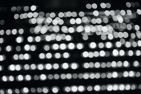 Bokeh lights. Beautiful Christmas background. abstract bokeh background. black and white photography Stock Photo