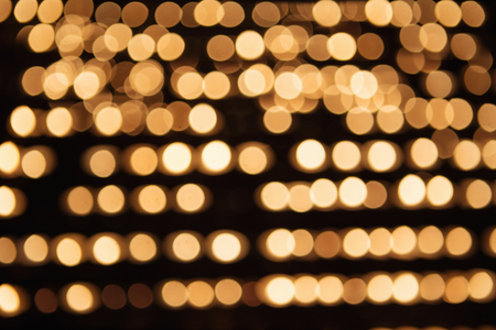 Bokeh lights. Beautiful Christmas background. Gold abstract bokeh background Stock Photo