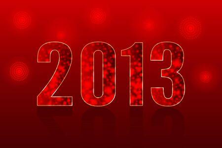 Happy New Year 2013 - vector illustration Stock Vector - 16815760