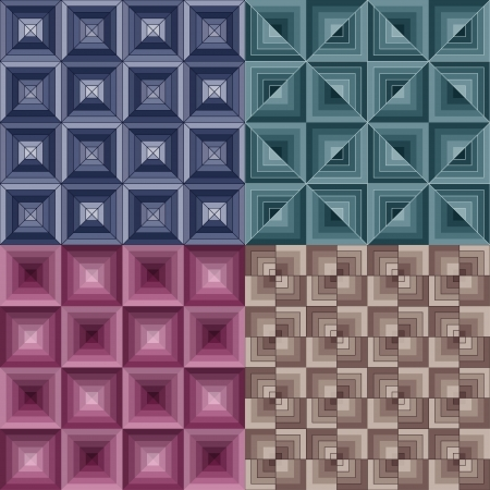 Seamless geometric pattern - optical Illusions