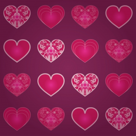 seamless pattern with hearts Stock Vector - 16959042