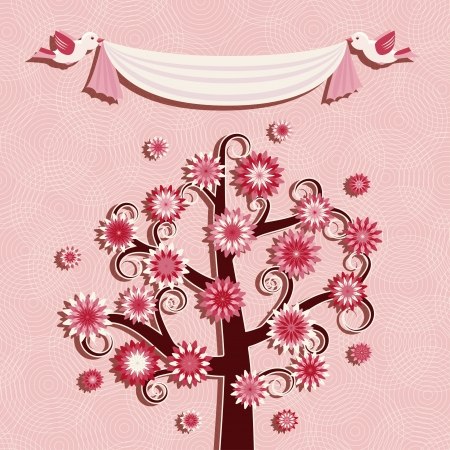 Card or invitation with rosewood Vector