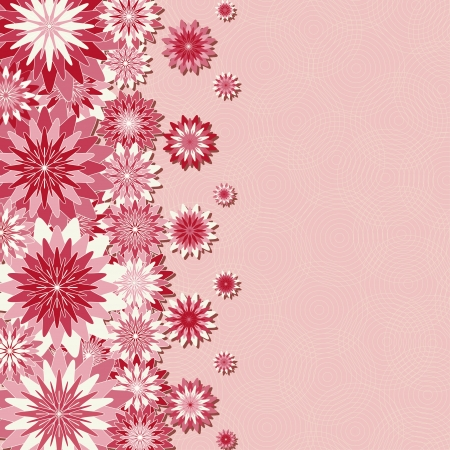 card or invitation with pink flowers  Vector