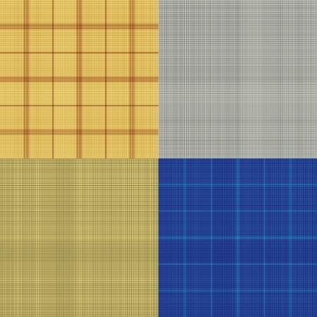 Set of seamless sacking texture - vector illustration Stock Vector - 17698814