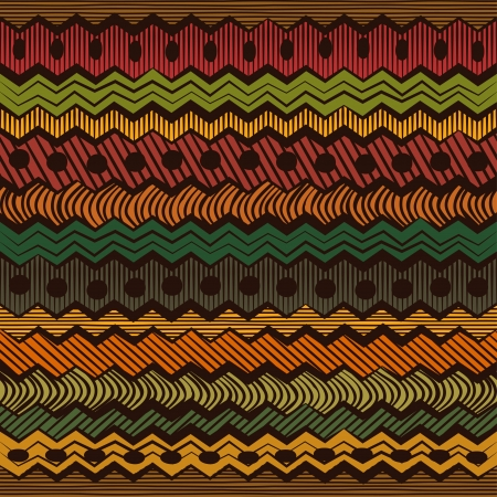 Colorful ethnic seamless pattern - vector illustration Vector