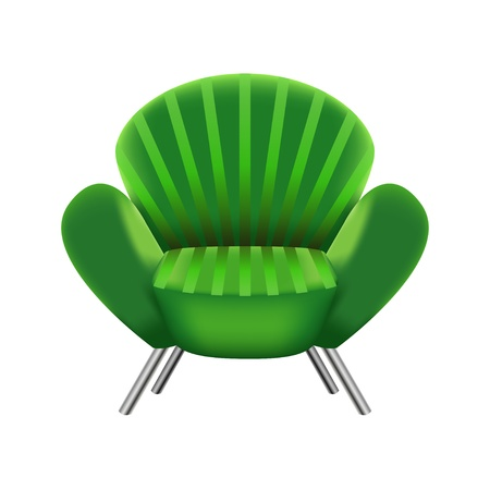 green armchair on white background Stock Vector - 18597198