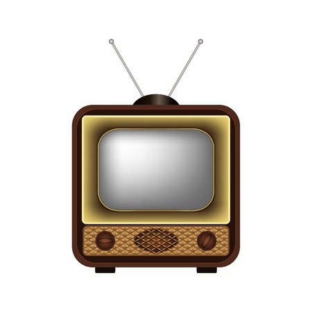 Retro TV on a white background - vector illustration Vector