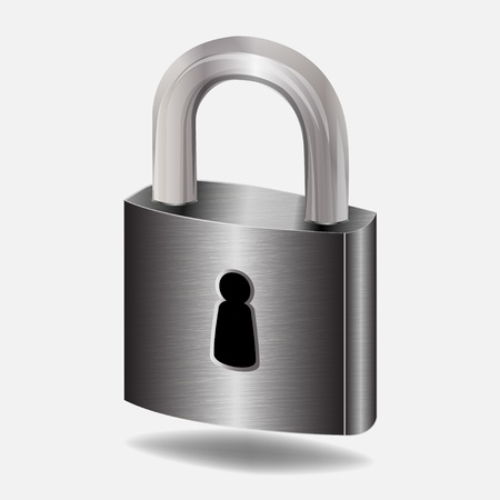 padlock icon: padlock - vector illustration Illustration
