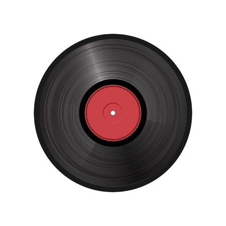 retro vinyl record - illustration