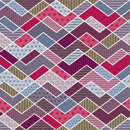 Abstract geometric patchwork pattern - illustration