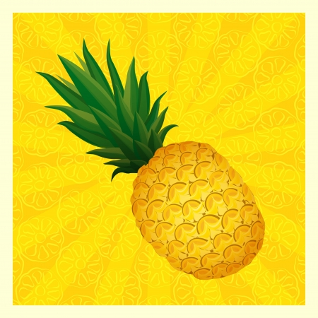 yellow pineapple background- vector illustration Vector
