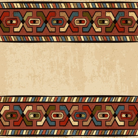 vintage ethnic background hand-drawn seamless ornament - vector illustration