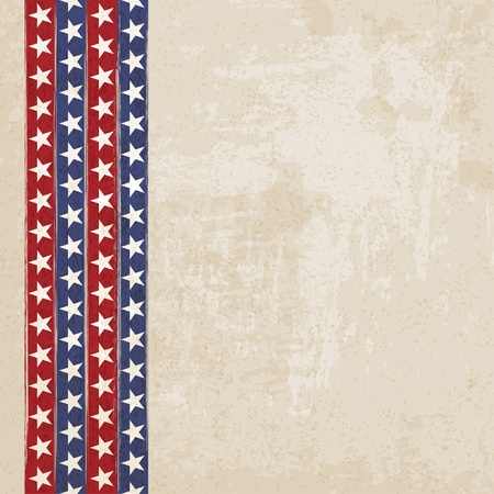 american election: Vintage background with stripes and stars - vector illustration