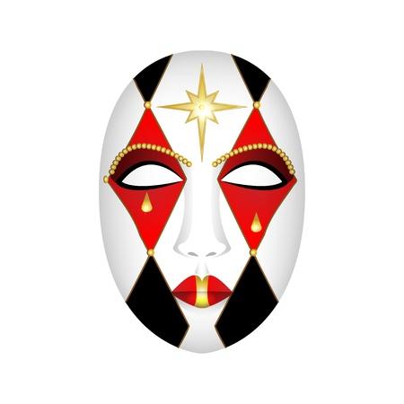 carnival mask on a white background - vector illustration