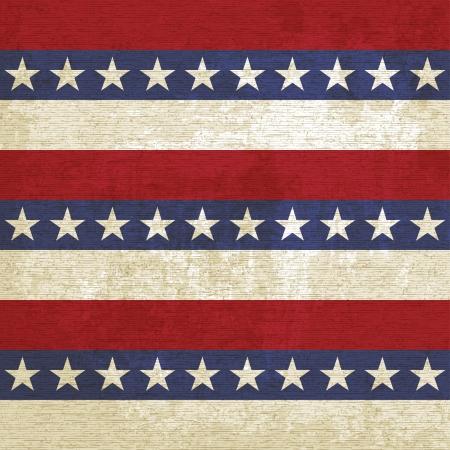 american flags: Fondo de la vendimia con las rayas y estrellas - ilustraci�n vectorial