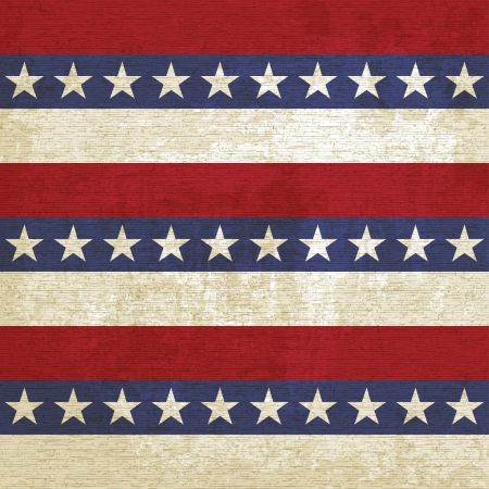 american history: Vintage background with stripes and stars - vector illustration