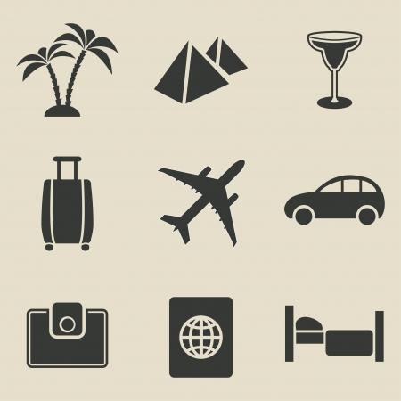Travel icon set - vector illustration Illustration
