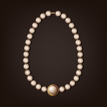 pearl necklace - vector illustration Vector