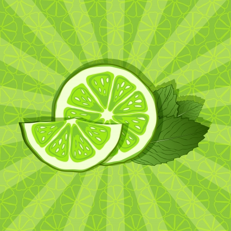 lime and mint background - vector illustration Vector