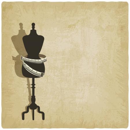 mannequin: fond de couture - illustration vectorielle