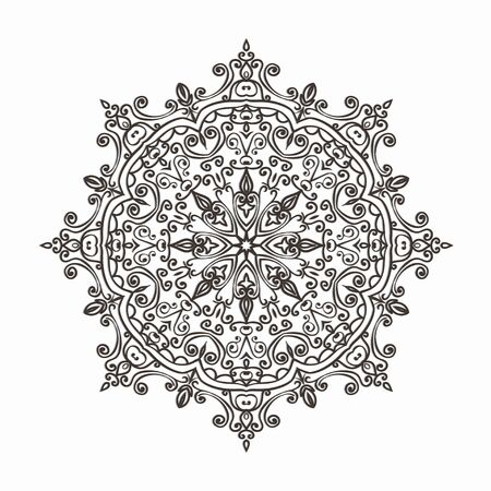 doiley: circular lace pattern - vector illustration Illustration