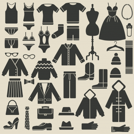 dress coat: clothing icons - vector illustration