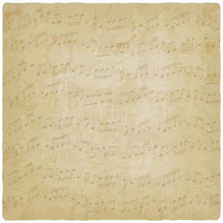 old sheet music: Vintage music background - vector illustration