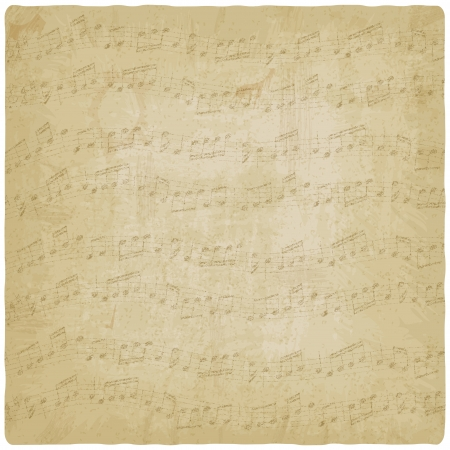 antik: Weinlese-Musik-Hintergrund - Vektor-Illustration Illustration
