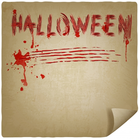 halloween scratched background - vector illustration Stock Vector - 23211391