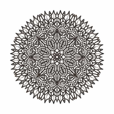 lace vector: circular lace pattern - vector illustration Illustration