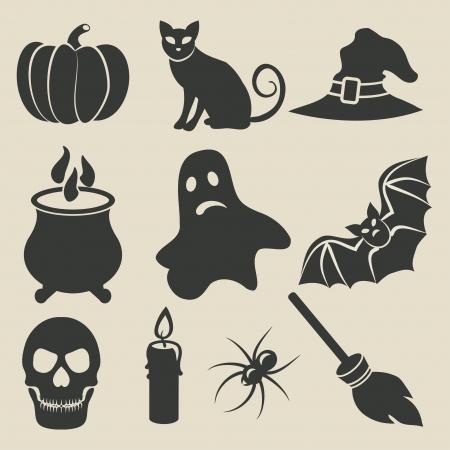 Halloween icons set - vector illustration Vector