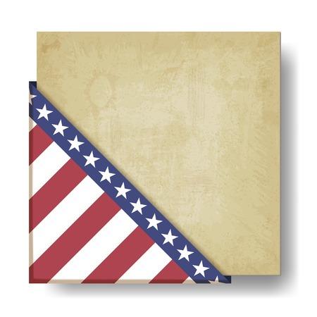 Vintage background with stripes and stars corner - vector illustration Çizim