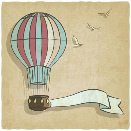 retro background with aerostat - vector illustration Illustration